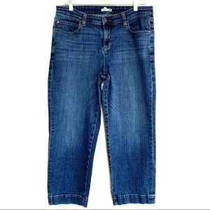 Eileen Fisher High Rise Capri Ankle Cropped Jeans
